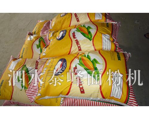 公司设备在安哥拉生产的产品-玉米加工成套设备